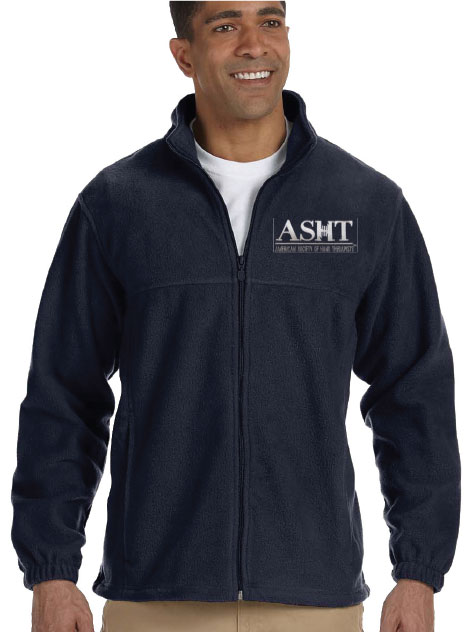M990 - Full-Zip Fleece with crest logo ASHT full zip fleece