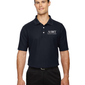 ASMT logo on men's black T-Shirt
