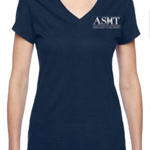 ASHT logo on ladies junior V neck T-Shirt