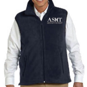 M985 - Micro Fleece Vest with Crest Logo ASHT micro fleece vest 300x300