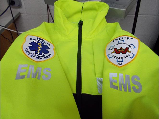 Bright fluorescent green EMS Jacket